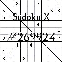 Sudoku X №269924