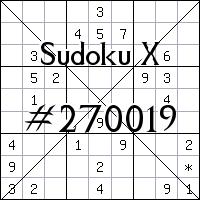 Sudoku X №270019