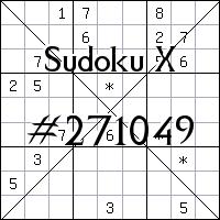 Sudoku X №271049