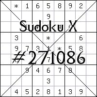 Sudoku X №271086