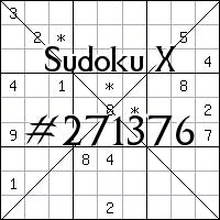 Sudoku X №271376