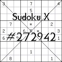 Sudoku X №272942