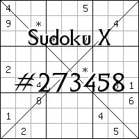Sudoku X №273458
