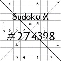Sudoku X №274398