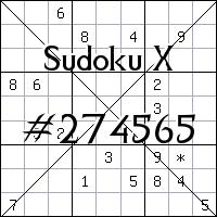 Sudoku X №274565