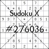 Sudoku X №276036