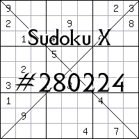 Sudoku X №280224