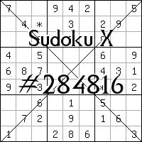 Sudoku X №284816