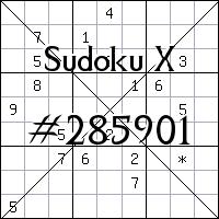 Sudoku X №285901