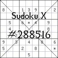 Sudoku X №288516
