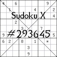 Sudoku X №293645