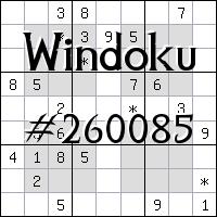 Windoku №260085