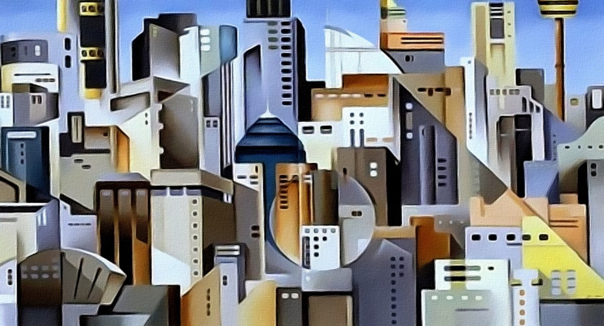 Jigsaw Puzzle Solve jigsaw puzzles online - Abstract city
