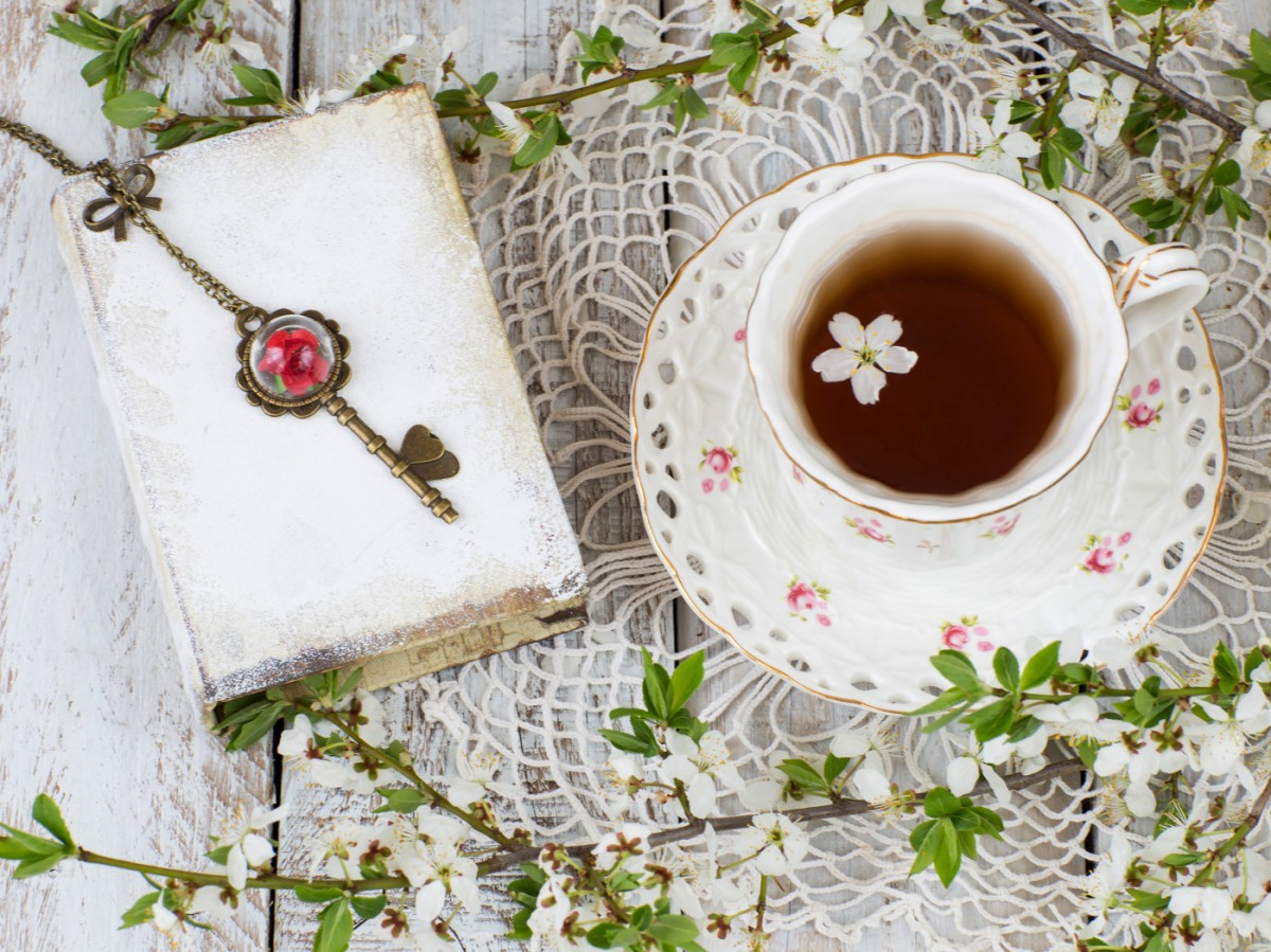 Jigsaw Puzzle Solve jigsaw puzzles online - Tea with flowers