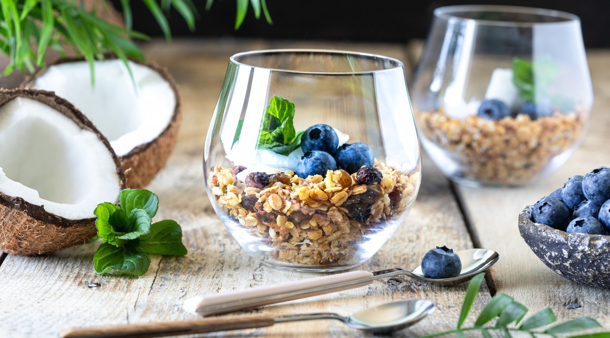 Jigsaw Puzzle Blueberries with muesli