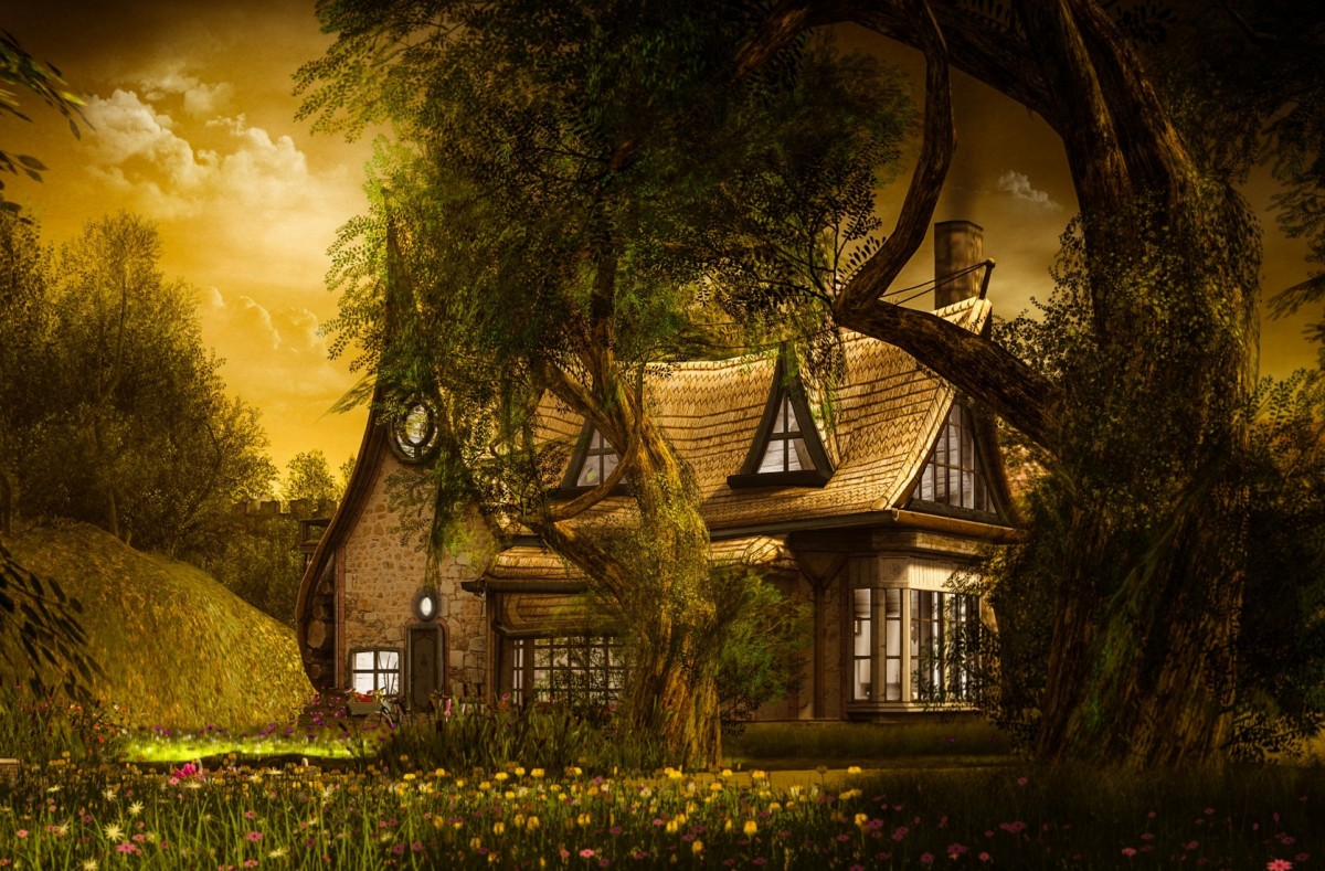 Jigsaw Puzzle Solve jigsaw puzzles online - The house behind the trees