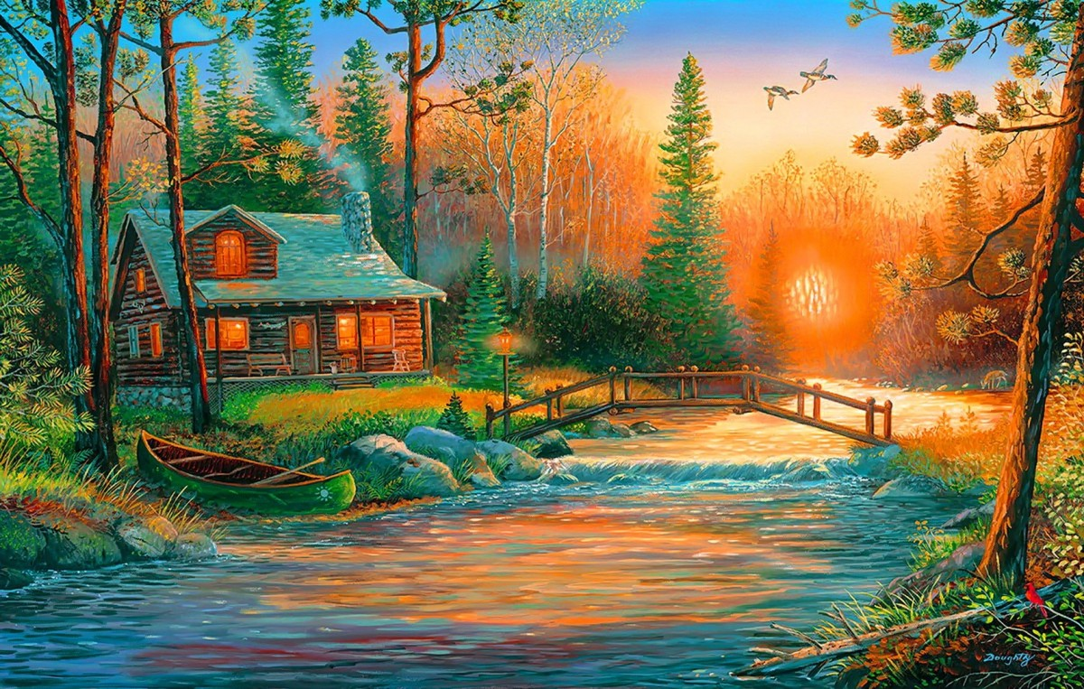 Jigsaw Puzzle Solve jigsaw puzzles online - The lake house