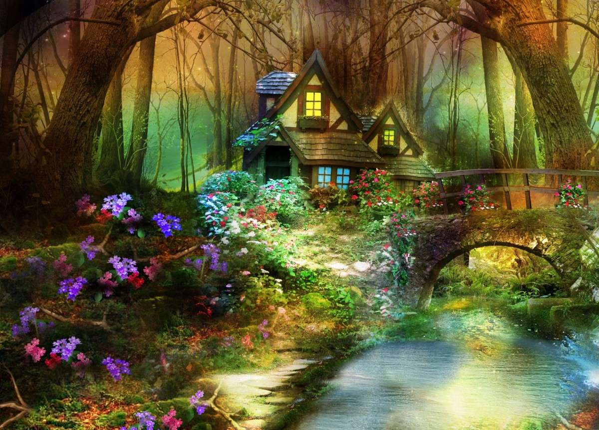 Jigsaw Puzzle Solve jigsaw puzzles online - The cabin in the woods