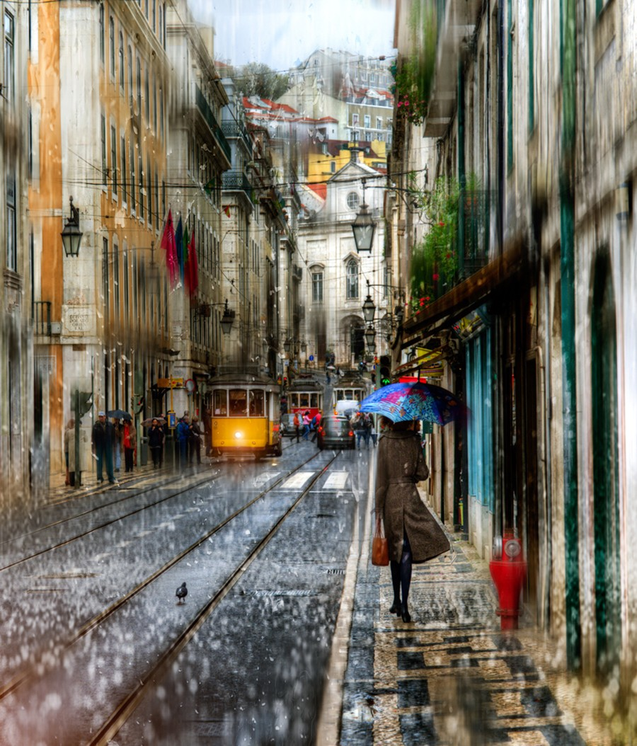 Jigsaw Puzzle Solve jigsaw puzzles online - Rain in Lisbon