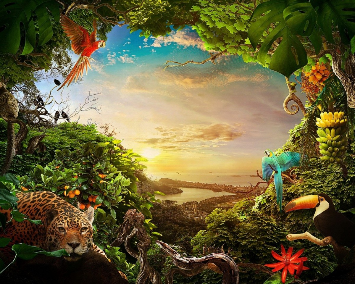 Jigsaw Puzzle Solve jigsaw puzzles online - The jungle and the city