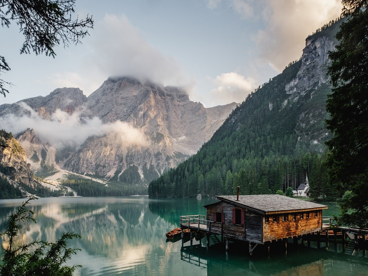 Jigsaw Puzzle Solve jigsaw puzzles online - Mountain lake