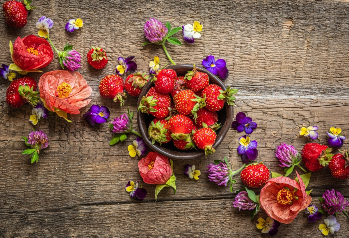 Jigsaw Puzzle Solve jigsaw puzzles online - Strawberries and flowers