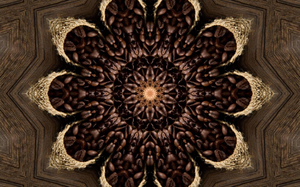 Jigsaw Puzzle Coffee kaleidoscope