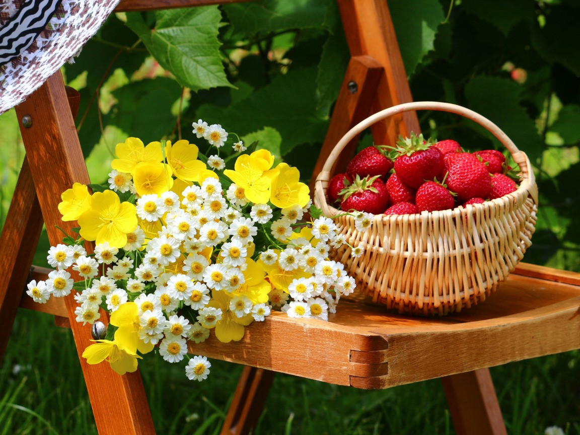 Jigsaw Puzzle Solve jigsaw puzzles online - A basket of strawberries