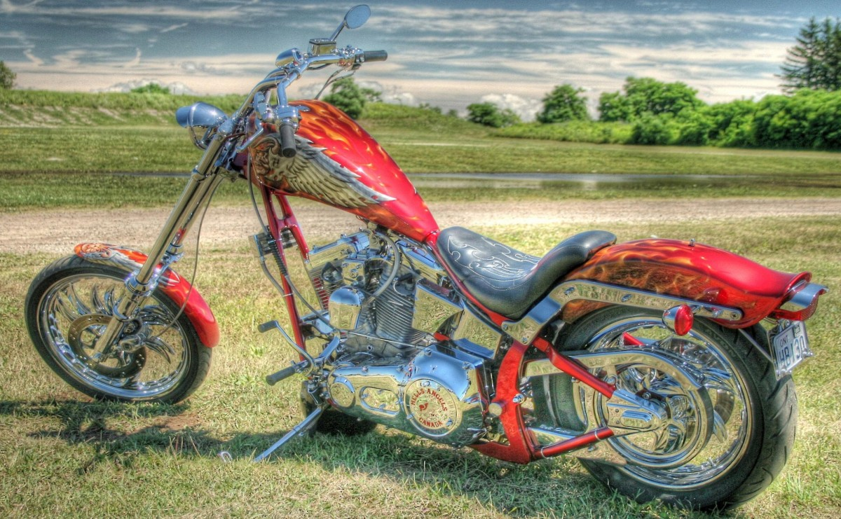 Jigsaw Puzzle Solve jigsaw puzzles online - Red motorcycle