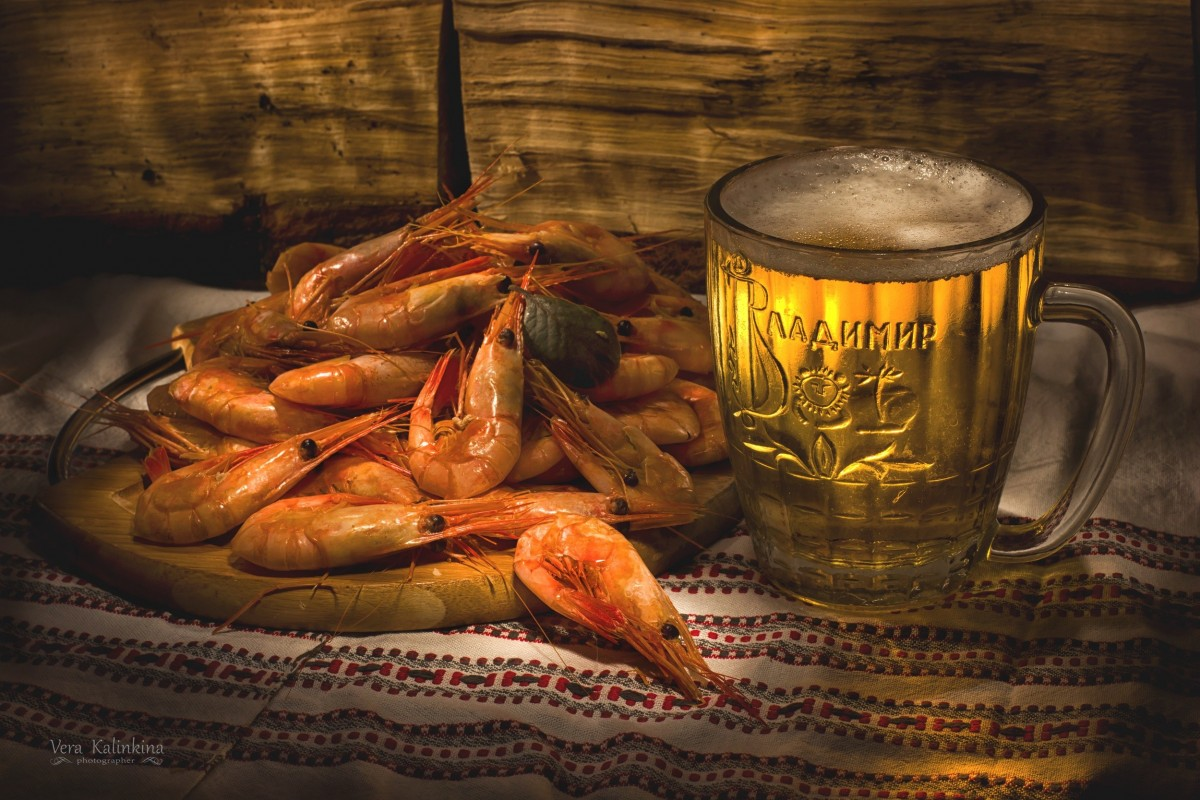 Jigsaw Puzzle Solve jigsaw puzzles online - Shrimp and beer