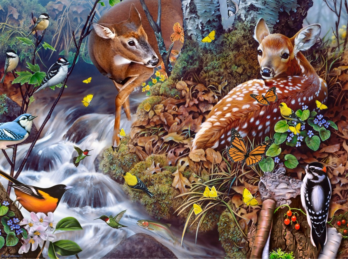 Jigsaw Puzzle Solve jigsaw puzzles online - Forest dwellers