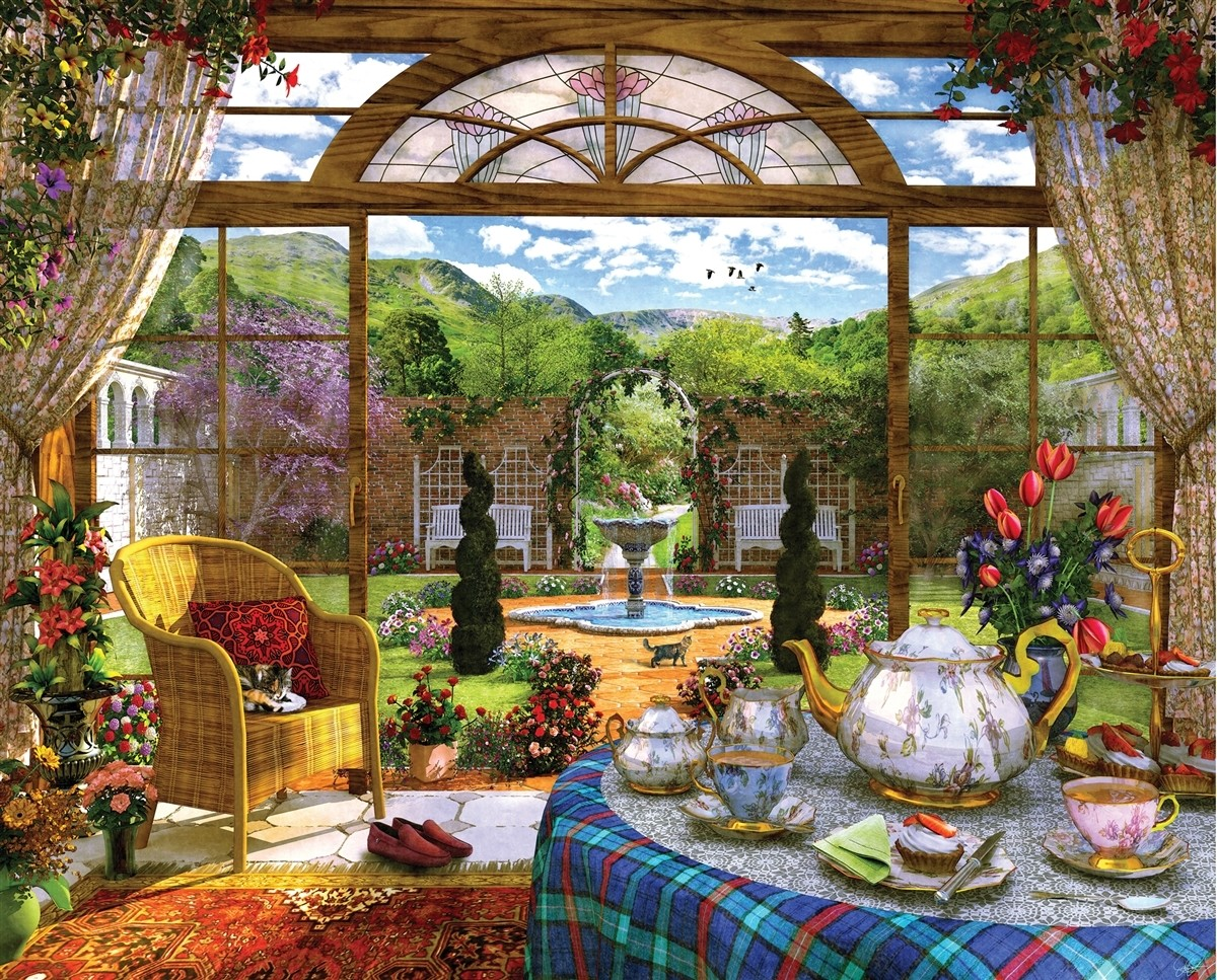 Jigsaw Puzzle Solve jigsaw puzzles online - Summer tea party