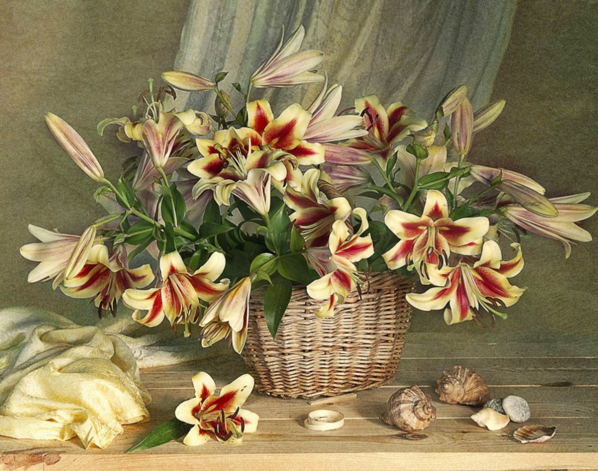Jigsaw Puzzle Solve jigsaw puzzles online - Lilies in a basket