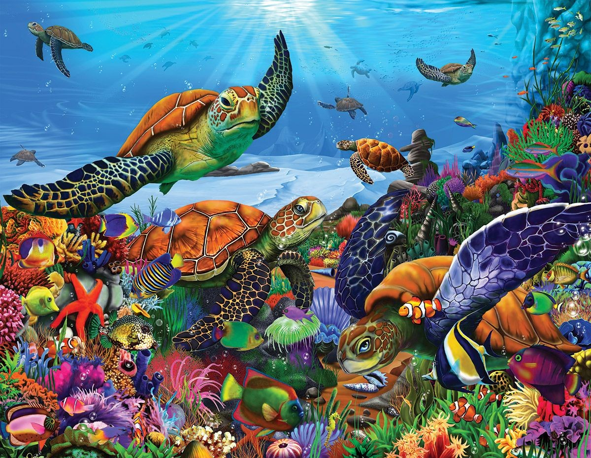 Jigsaw Puzzle Solve jigsaw puzzles online - Sea turtles