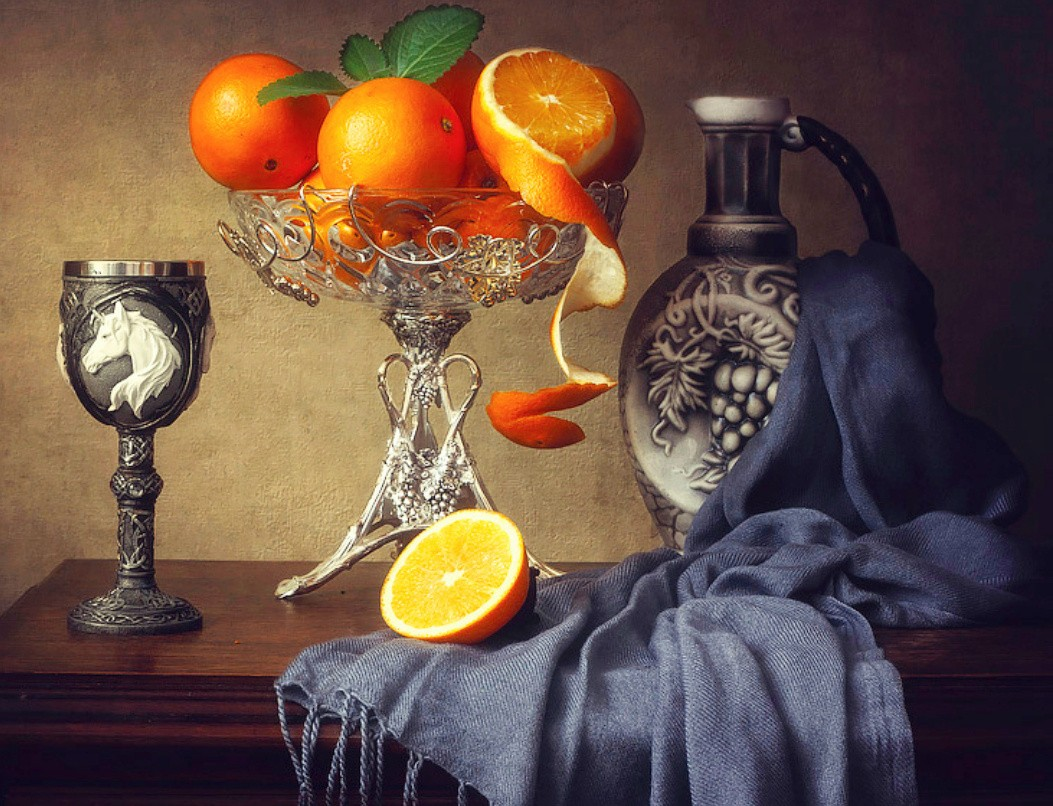 Jigsaw Puzzle Solve jigsaw puzzles online - Still life with orange