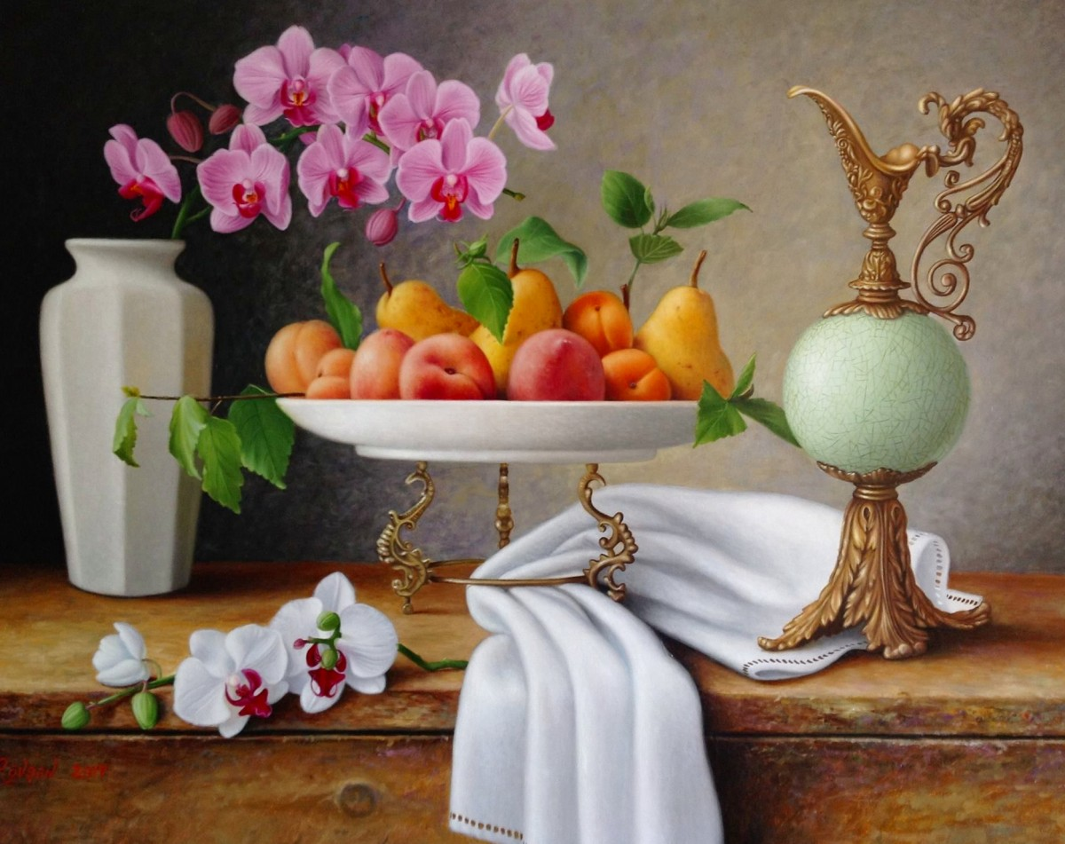 Jigsaw Puzzle Solve jigsaw puzzles online - Still life with orchids