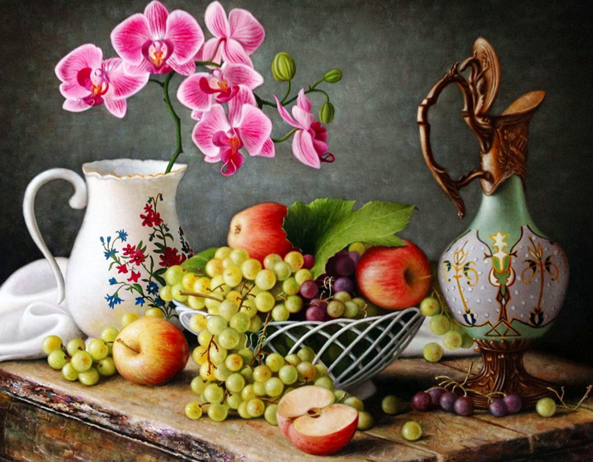 Jigsaw Puzzle Still life with orchids