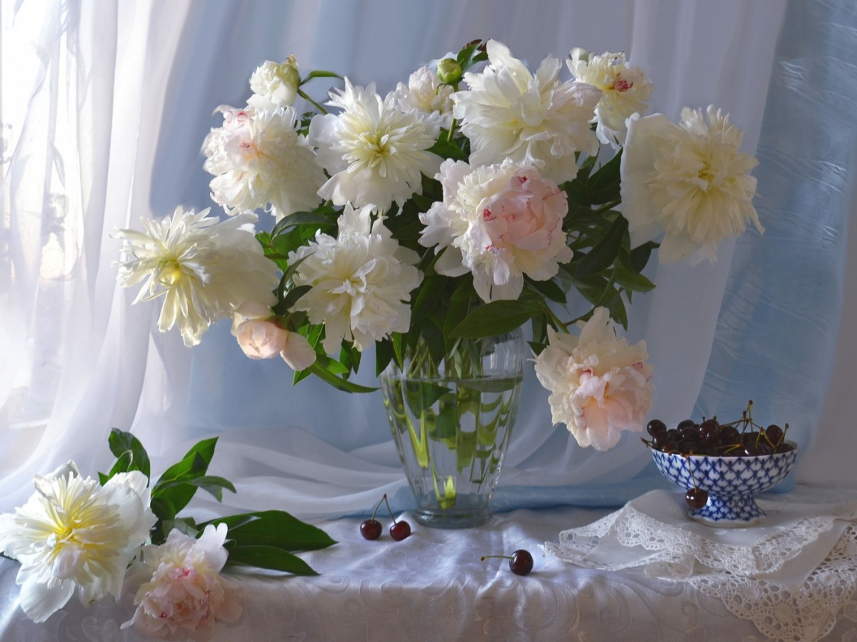 Jigsaw Puzzle Solve jigsaw puzzles online - Still life with peonies