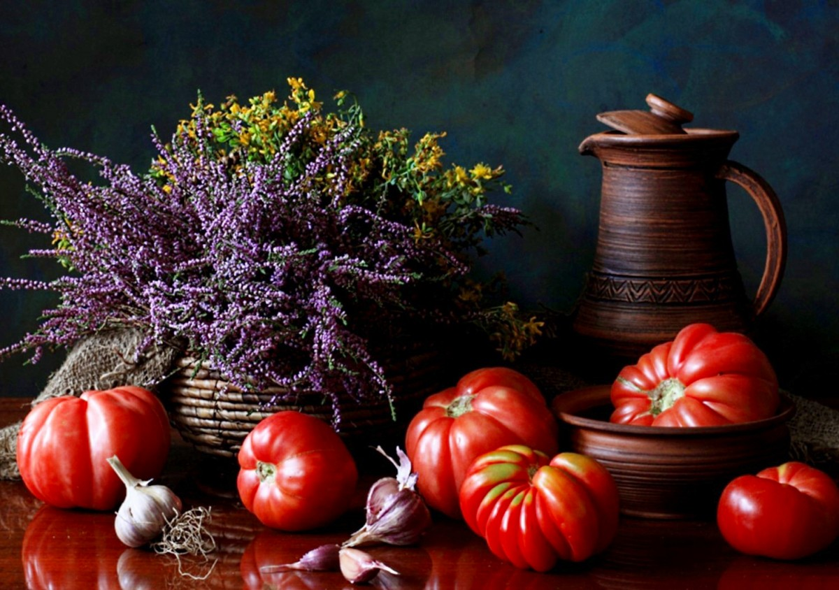 Jigsaw Puzzle Solve jigsaw puzzles online - Still life with tomato