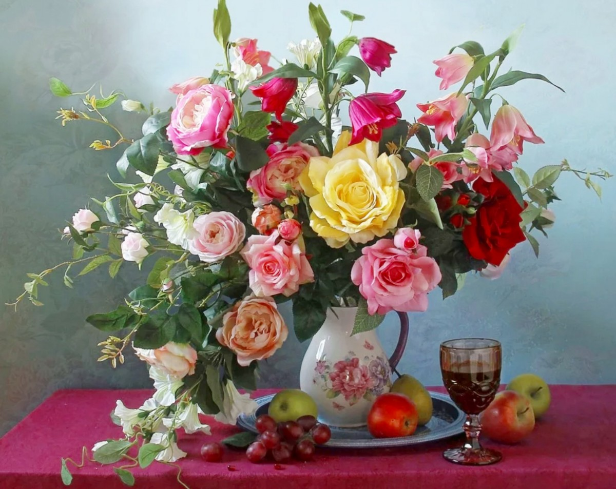 Jigsaw Puzzle Solve jigsaw puzzles online - Still life with flowers
