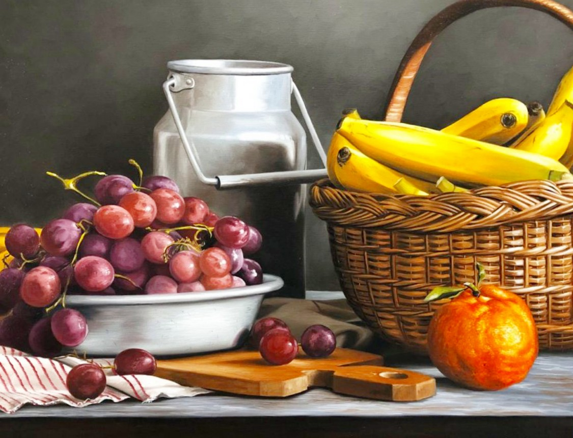 Jigsaw Puzzle Solve jigsaw puzzles online - Still life with grapes