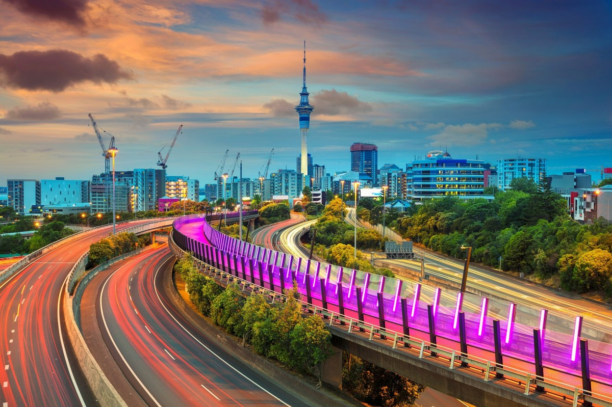 Jigsaw Puzzle Solve jigsaw puzzles online - Auckland city at sunset