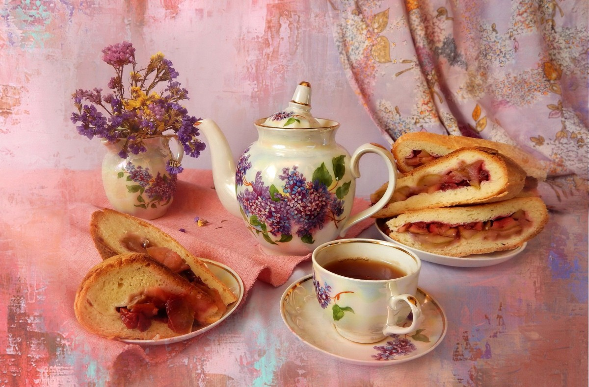 Jigsaw Puzzle Solve jigsaw puzzles online - Cake and tea