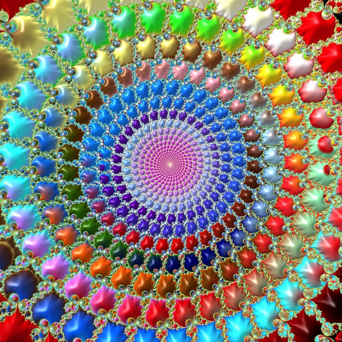 Jigsaw Puzzle Solve jigsaw puzzles online - Rainbow spiral