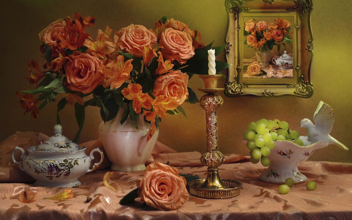 Jigsaw Puzzle Solve jigsaw puzzles online - Roses and grapes