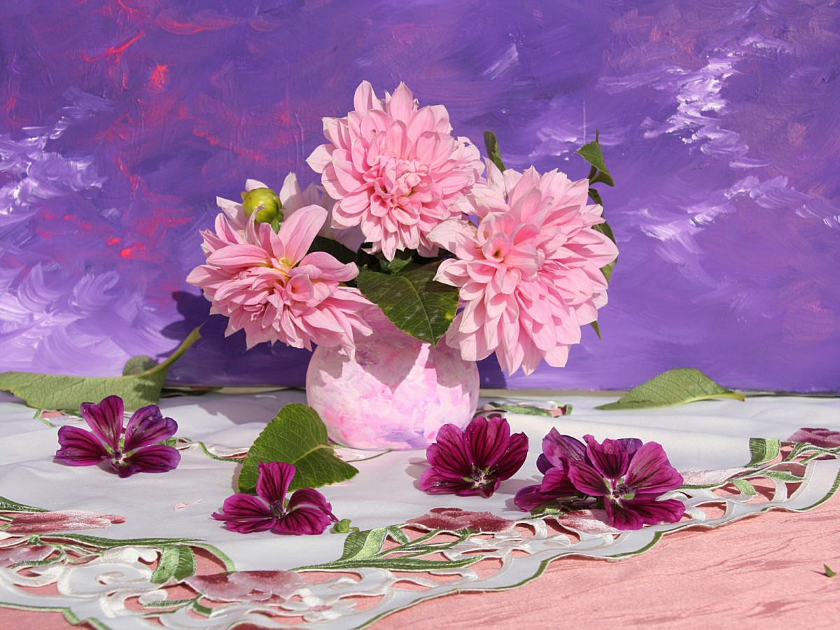 Jigsaw Puzzle Solve jigsaw puzzles online - Pink flowers
