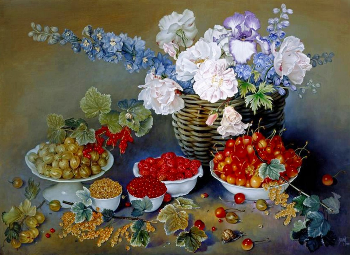 Jigsaw Puzzle Solve jigsaw puzzles online - Flowers and berries