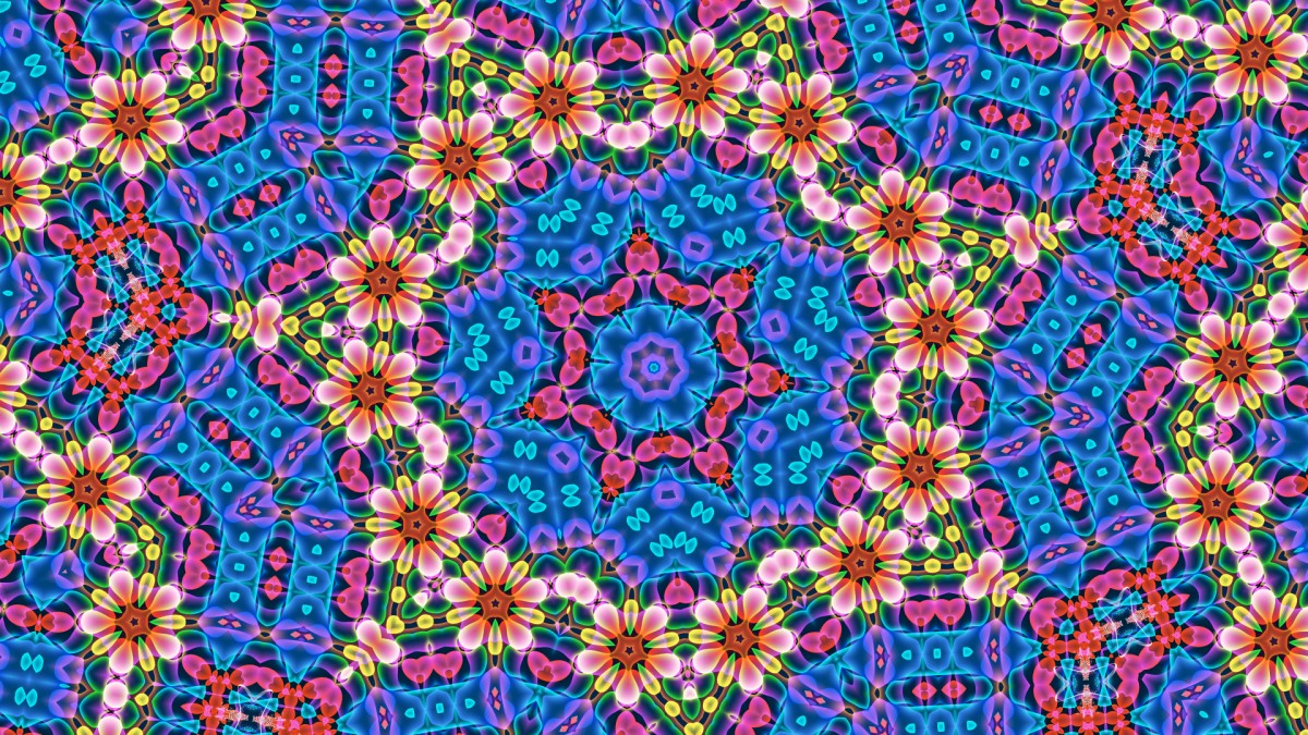 Jigsaw Puzzle Solve jigsaw puzzles online - Flowers in a kaleidoscope