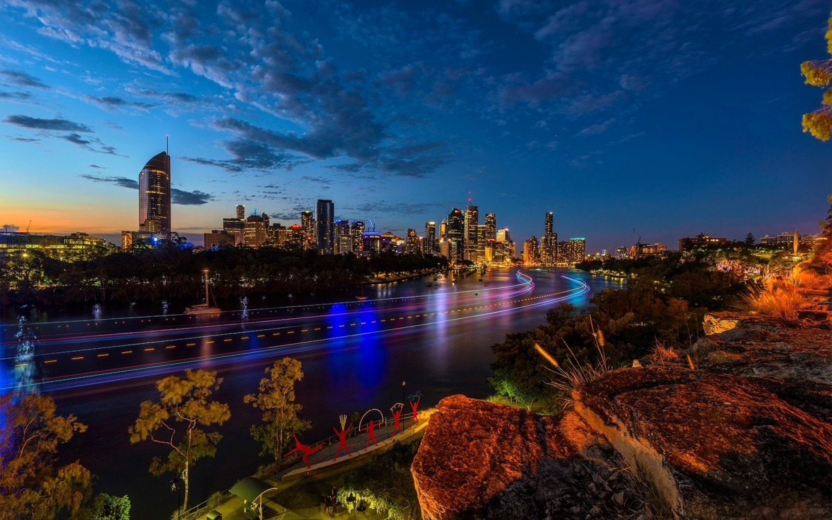 Jigsaw Puzzle Solve jigsaw puzzles online - Morning over Brisbane