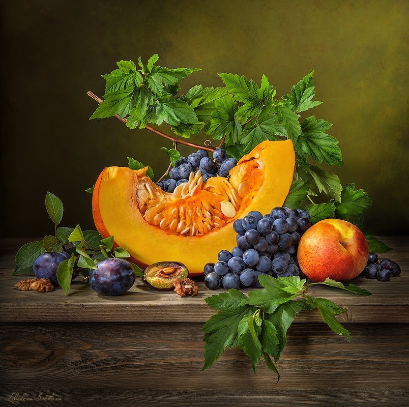 Jigsaw Puzzle Solve jigsaw puzzles online - Grape and Pumpkin